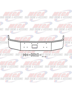 FRONT BUMPER PB 377 16'' TOW ONLY, CHROME