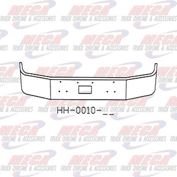 VALLEY CHROME BUMPER PB 377 16'' TOW ONLY, CHROME