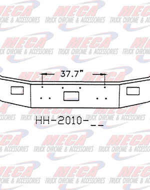 FRONT BUMPER PB 377 12'' CHROME SETBACK, TOW, FOG HLS