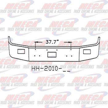 VALLEY CHROME BUMPER PB 377 12'' CHROME SETBACK, TOW, FOG HLS