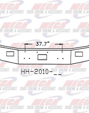 FRONT BUMPER PB 377 16'' TOW & FOG, CHROME