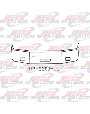 FRONT BUMPER PB 387 16'' 1999 - 2001 FOG & STEP, CHROME