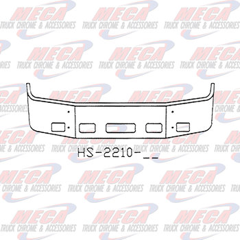 VALLEY CHROME BUMPER PB 387 18'' SS 2002-2011 W/ TOW FOG & STEP