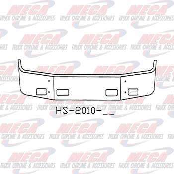VALLEY CHROME BUMPER PB 387 16'' 2002-2011 SETBACK W/ FOG & TOW