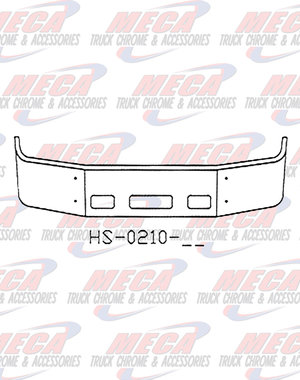 FRONT BUMPER PB 387 20'' S/S 2002+ SETBACK  W/ TOW & STEP