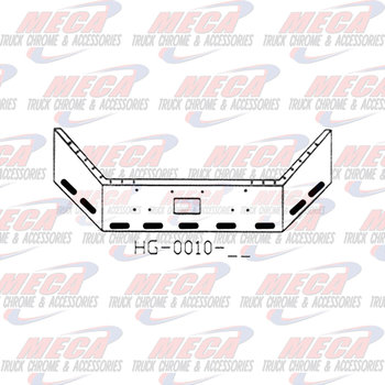 VALLEY CHROME BUMPER PB 378 & 357 18'' BKBACK W/ TOW & 9 OVAL HLS