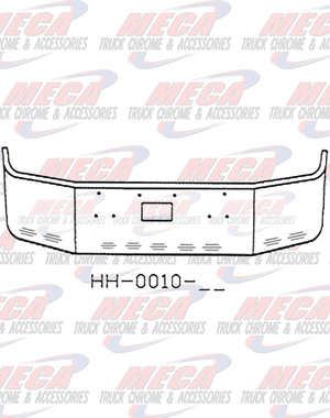 FRONT BUMPER PB 377 20'' SS SETBACK, TOW HOLE ONLY 11 BBL