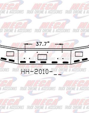 FRONT BUMPER PB 377 16'' SET BK W/ FOG TOW 9 OVAL LT HL