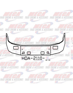FRONT BUMPER PB 587 20'' SS W/ 4 TOWS & 2 RAISED RECT FOG