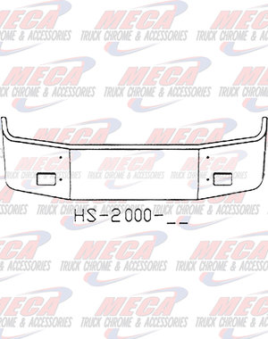 FRONT BUMPER PB 387 20'' SS 2002+ SETBACK W/FOG ONLY