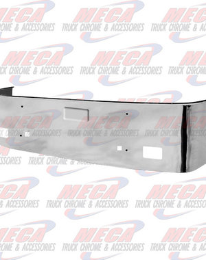 FRONT BUMPER PB 386 20'' SS 06-12 TOW HOLES & FRENCH LIC