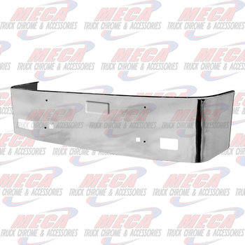 VALLEY CHROME BUMPER PB 386 20'' SS 06-12 TOW HOLES & FRENCH LIC