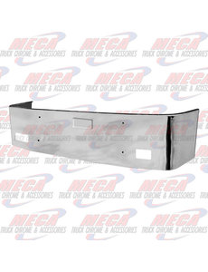 FRONT BUMPER PB 386 20'' SS 06-12 SET BACK W/ FRENCH LIC