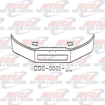 VALLEY CHROME BUMPER FL BUSINESS CLASS 16'' M2-106 VENT HOLE 2011