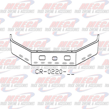 VALLEY CHROME BUMPER FL112 MIDRANGE 20'' SS TOW FOG & 10 BB LTS