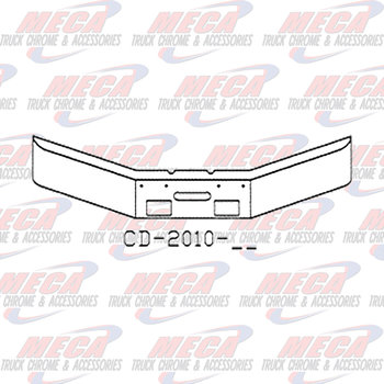 VALLEY CHROME BUMPER FL FLC 120 12'' 17'' BREAKBACK FOG & STEP