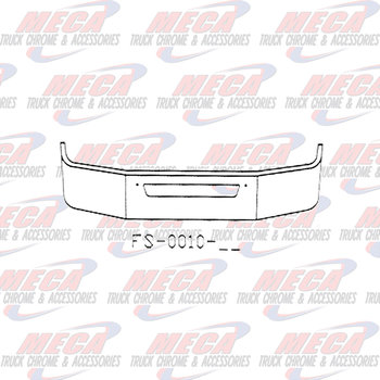 VALLEY CHROME BUMPER KW T270 T370 16'' W/ AIR FLOW HOLE ONLY