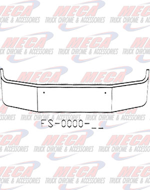 FRONT BUMPER KW T270 T370 18'' MOUNTING HOLES ONLY