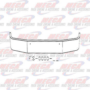 VALLEY CHROME BUMPER KW T270 T370 18'' MOUNTING HOLES ONLY