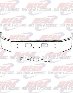 FRONT BUMPER KW T300 S/S 13.5'' SET FWD W/TOW -RND HL