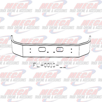 VALLEY CHROME BUMPER KW T300 S/S 13.5'' SET FWD W/TOW -RND HL