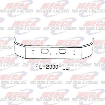 VALLEY CHROME BUMPER KW T300 16'' SET FWD W/ SQD TOW & LIC HOLES