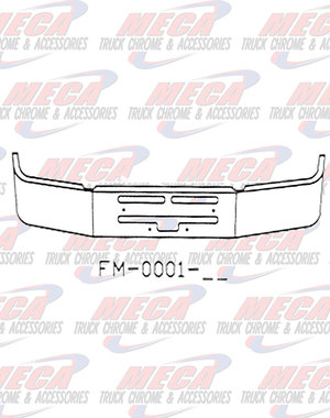 """FRONT BUMPER KW T400 20"""" S/S AIR FLOW HOLES INCLUDES TOW & STEP"""