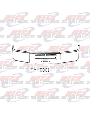 "FRONT BUMPER KW T400 20"" S/S AIR FLOW HOLES INCLUDES TOW & STEP"