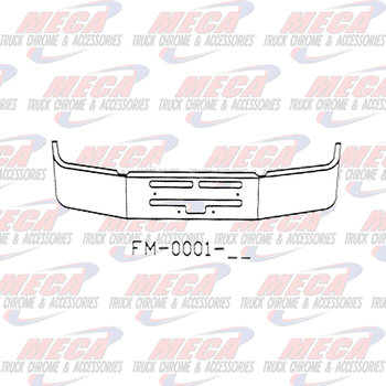 VALLEY CHROME BUMPER KW T400 20'' S/S AIR FLOW HOLES INCLUDES TOW & STEP