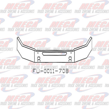 VALLEY CHROME BUMPER KW T440 16'' W/ TOW & STEP