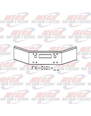 FRONT BUMPER KW T450 14'' TAPERED OPEN END TOW, STEP