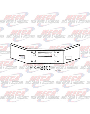 FRONT BUMPER KW T450 14'' OPEN END W/ FOG, TOW & STEP