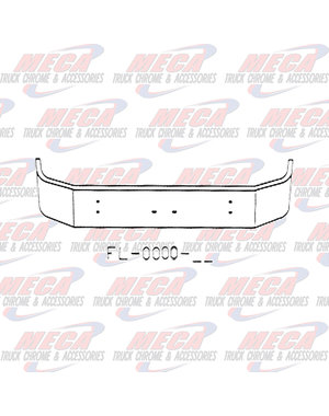 FRONT BUMPER KW T300 13.5'' SET FWD W/  RND LT AT ENDS