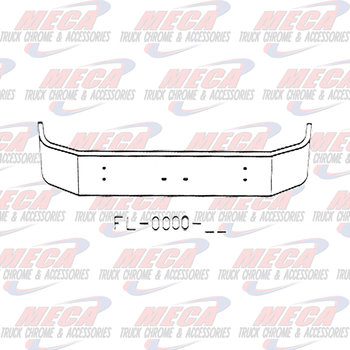 VALLEY CHROME BUMPER KW T300 13.5'' SET FWD W/  RND LT AT ENDS