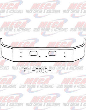 FRONT BUMPER KW T300 18'' SET FWD W/TOW & RND LT AT ENDS