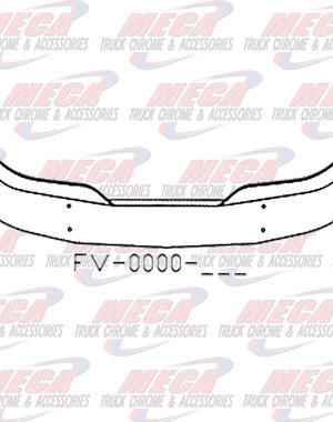 FRONT BUMPER KW T680 16'' W/ MOUNTING HOLES ONLY