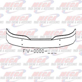 VALLEY CHROME BUMPER KW T680 16'' W/ MOUNTING HOLES ONLY