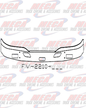 FRONT BUMPER KW T680 16'' W/ FOG, TOW, & STEP HOLES