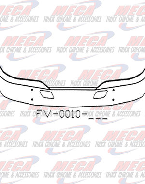 FRONT BUMPER KW T680 16'' W/ TOW HOLES & RADAR HOLE