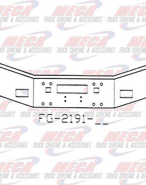 FRONT BUMPER KW T800 16'' 86-UP FOG, TOW, STEP HLS