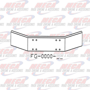 VALLEY CHROME BUMPER KW T800 86-03 18'' PLAIN