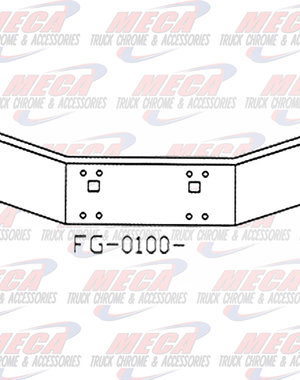 FRONT BUMPER KW T800 14'' CHROME TOW ONLY 1986-2003
