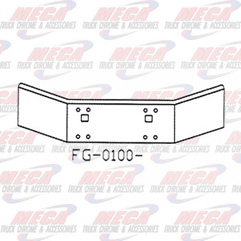 VALLEY CHROME BUMPER KW T800 14'' CHROME TOW ONLY 1986-2003