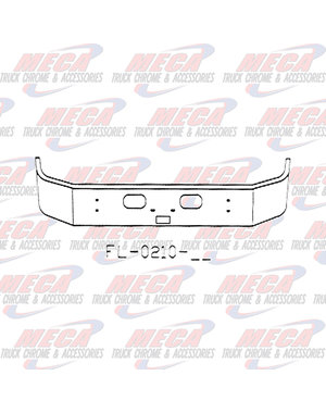 FRONT BUMPER KW T300 13.5'' SET FWD W/TOW, STEP & RND HLS