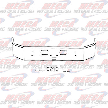 VALLEY CHROME BUMPER KW T300 13.5'' SET FWD W/TOW, STEP & RND HLS