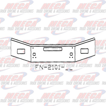 VALLEY CHROME BUMPER KW T800 18''-16'' TAPER 2004+ FOG, TOW, STEP