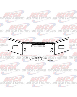FRONT BUMPER KW T800 14'' TAPERED 2004+ FOG, TOW, STEP