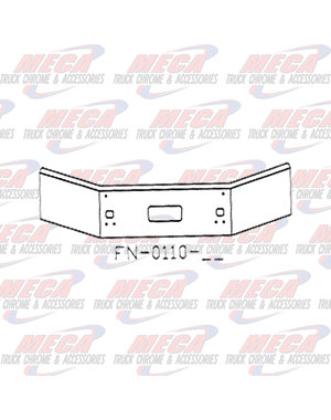 FRONT BUMPER KW T800 04+ S/S 14''-11''  W/STEP, SMALL TOWS