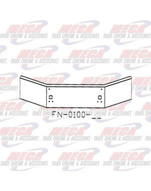 FRONT BUMPER KW T800B 04+ 14''-11'' TAPERED & SET BACK TOW