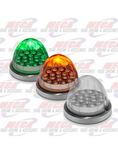 Dual Revolution Amber/Green Watermelon LED with Reflector Cup & Lock Ring (19 Diodes)